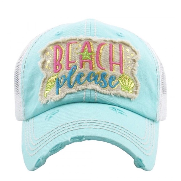 82a91582 Accessories | Beach Please Embroidery Vintage Style Baseball Cap ...